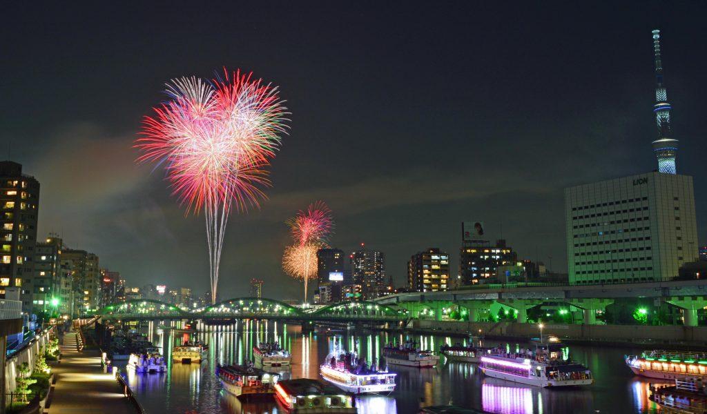เทศกาลดอกไม้ไฟแม่น้ำสุมิดะ