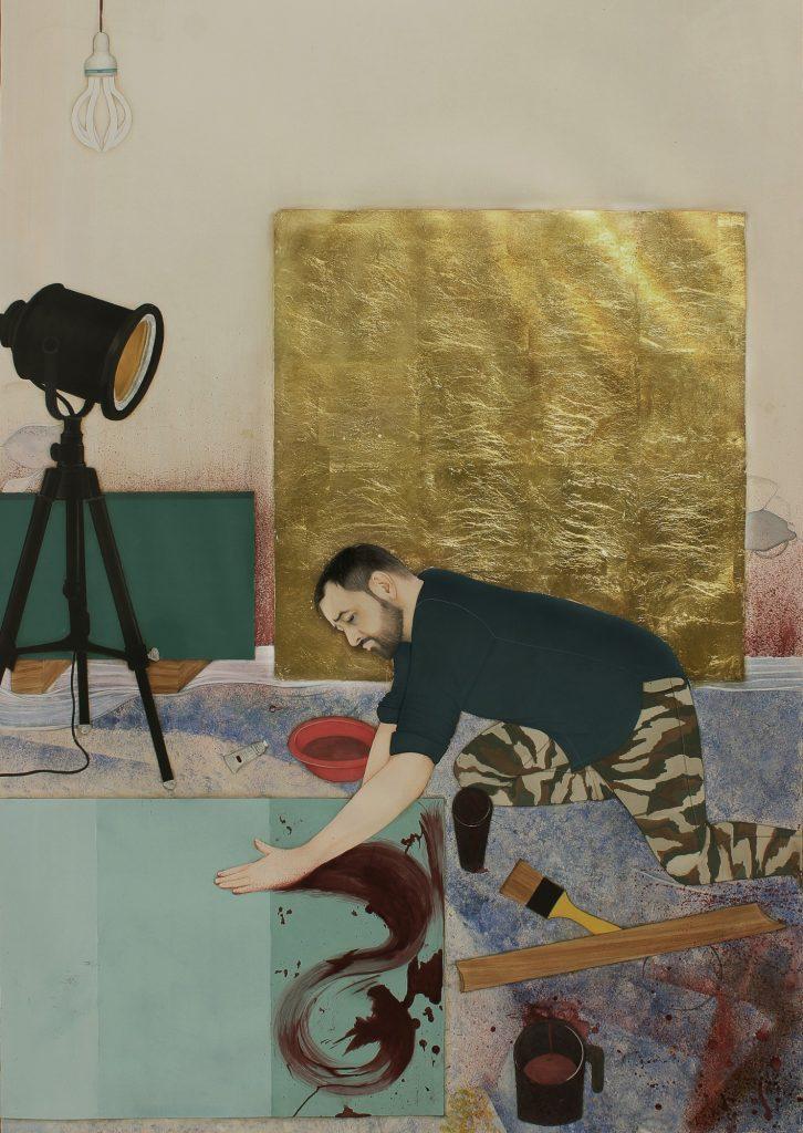 ผู้ชนะเลิศของเดอะโซเวอเรน เอเชียน อาร์ท ไพรซ์ ประจำปี 2019 ชื่อผลงาน: สตูดิโอของอิมห์ราน คูเรชี (เทคนิค: สีกว็อช (Gouache) และใบไม้ทองคำบน Wasli ขนาด 110 x 150 x 5ซม.) ศิลปิน: อาห์เมด จาเวต จากประเทศปากีสถาน เป็นผลงานที่แสดงออกถึงความเคารพที่มีต่อผลงานของคูเรชีผ่านศิลปะจุลจิตกรรมสไตล์นีโอ อาร์ท ด้วยการทำสารคดีตัวของเขาเองในสตูดิโอของเขา ผลงานชิ้นนี้ยังรวมไปถึงเวิร์คช็อปแบบละเอียด โดยแนวคิดของโมกุล อะเตอลิเยร์ (Mughal atelier) เป็นสถานที่ ผู้ฝึกสร้างสรรค์ผลงานภายใต้ผู้เชี่ยวชาญ แต่ผลงานมีความแตกต่างออกในรูปแบบของสตูดิโอศิลปินอิสระ เขามีอิสระที่จะตามสไตล์รสนิยมทางศิลปะของเขา ในผลงานดังกล่าว จาเวตเล่นกับขนาดและมุมมองที่แสดงถึงสถานภาพและความสำคัญ คล้ายๆ กับจุลจิตรกรรมสไตล์โมกุลแบบดั้งเดิม