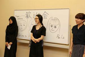 Thidarat while in Artist-in-residence program in Japan